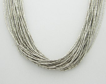 "Genuine Liquid Waterfall Sterling Silver Lustreous Strands 20"" Necklace Jewelry"