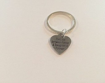 The Love Between a Father and Daughter is Forever charm on   Large Key Ring