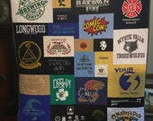 Custom Puzzle T Shirt Quilt for Lena E. - Final Payment