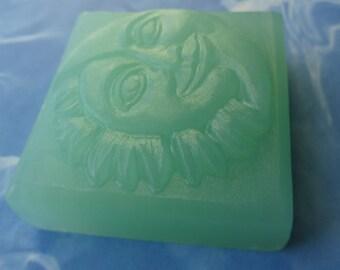 China Rain/White Musk Glycerin Soap-Handmade-Free Shipping-3.9 Oz Square Celestial Bar