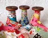 Fabric Ribbon, Handmade Fabric Ribbon, Frayed Fabric Ribbon, Mixed Fabric Ribbon