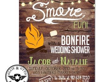 Custom BONFIRE Wedding Shower Birthday Rehearsal INVITATION DESIGN Printable