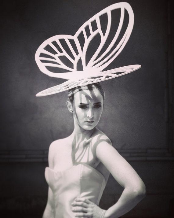 """Irina Shabayeva  """"Butterfly"""" headpiece."""