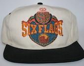 Vintage '90s Six Flags Snapback - Adjustable Hat - Theme Park Cap - San Francisco