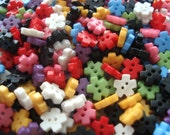 6mm Mini Resin Flower Buttons Doll Buttons Pack of 50 Very Small Flower Buttons A167