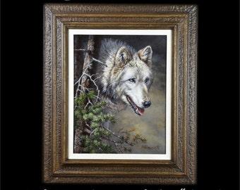 Wildlife Paintings - Southwestern Art - Gray Wolf Painting - Original Wildlife Painting - Wildlife Art - Wolf Painting - Wolf Image