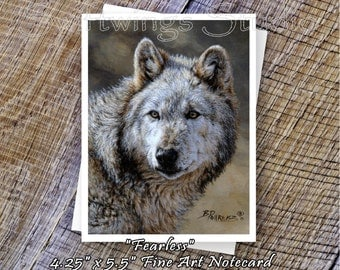 Wildlife Note Cards - Wolf Note Card - Gray Wolf Print - Wild Animal Note Cards - Wild Wolf Prints - Wildlife Stationary