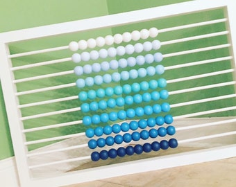 Ombré abacus wall art