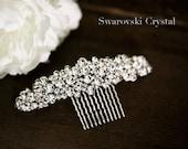 Swarovski Crystal Dazzling hair comb -  crystal hair comb - wedding headpiece - Swarovski element Bridal hair comb