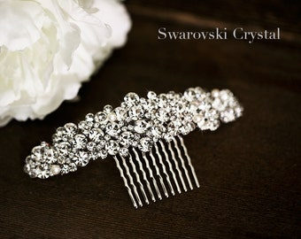 Swarovski Crystal Dazzling hair comb -  crystal hair comb - wedding headpiece - Swarovski element Bridal hair comb