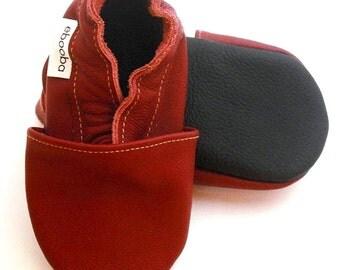 soft sole baby shoes infant kids children maroon  black 12-18m ebooba 16-3