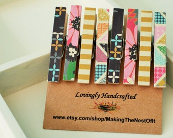 Decorative Clothespins, Mini Clips, Magnet Clothespegs