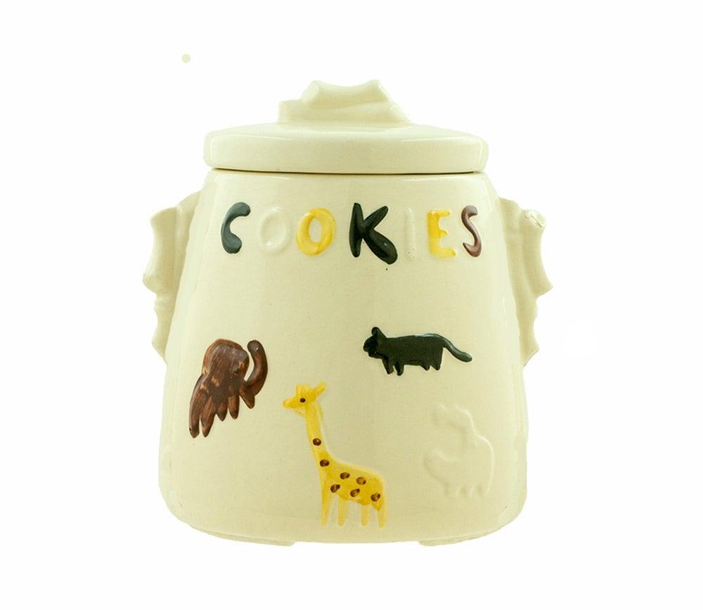 Vintage Cookie Jar Usa American Bisque 1950s Animal Cookies