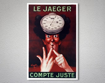 Le Jaeger Compte Juste Vintage Poster by Leonetto Cappiello - Poster Paper, Sticker or Canvas Print
