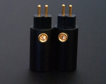 plusSound 2-Pin CIEM Custom In Ear Monitor locking screw connectors for DIY Custom Cables - Works with 64Audio, Noble, JHAudio, UM, etc.
