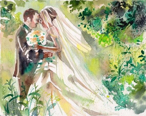 Wedding Gift Paintings: Wedding Anniversary Gifts For Her Custom Wedding
