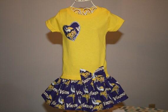 6 mo Baby Girls MINNESOTA VIKINGS Tshirt Dress Infant Toddlers