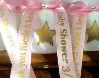 Baby Shower Favors,  Twinkle twinkle little star favors, Candle Favors,  Favors, Whale themed Favors, Baptism , Holy Communition Favors
