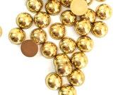 Flat Back Gold Pearls in 8mm | 5mm | 4mm | 3mm