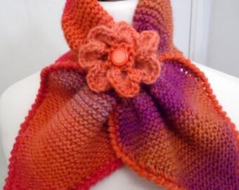 Echarpe - tour de cou - tricotée main -PLEIN SOLEIL - création Misty Tuss Tricote