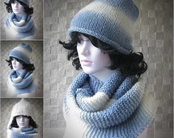 Handmade Infinity Scarf / Soft Knit Scarf / Winter Shawl / Loop Scarf / Stocking Stuffer / Perfect Gift / Present /