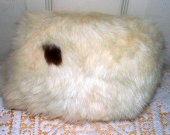 Vintage White Rabbit Child's Muff