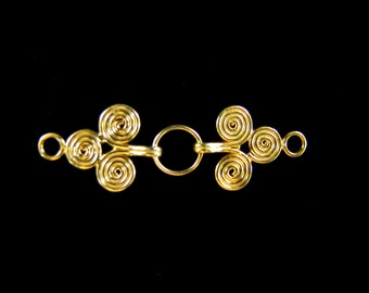SALE 1 set Gold Vermeil Clasp 40 mm Spiral Clasp