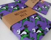 Notebook pack 4 A6 dinosaur panda notebook journal diary notepad sketch book