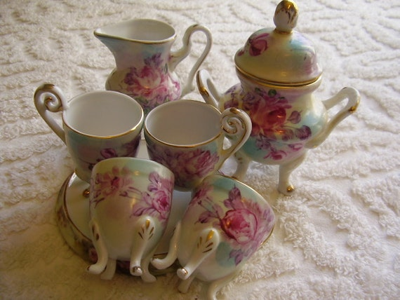 limoges china tea set 8piece