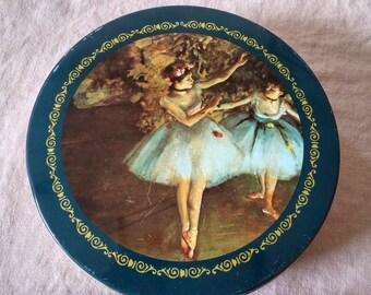 Vintage tin, Degas French Impressionist, Ballet Dancers