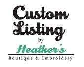 Custom for Kristina