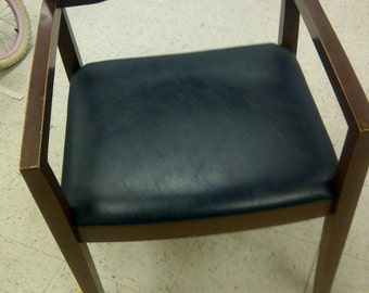 Knoll Ricchio studio chair...solid wood retro mid century FREE shipping!!
