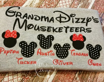 Gorgeous Custom embroidered Disney Mousketeers Shirts for the Family! 758