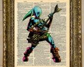 Legend of Zelda Zora Link Dictionary Art