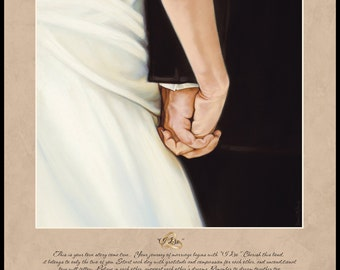 "Personalized Wedding ""I DO"" wall plaque"