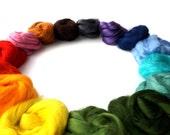 Rainbow Tussah Silk - 15 colours - 150g pack - 5.25oz - 15 x 10g