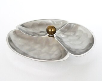 Brushed Metal Decorative Candy / Trinket Dish
