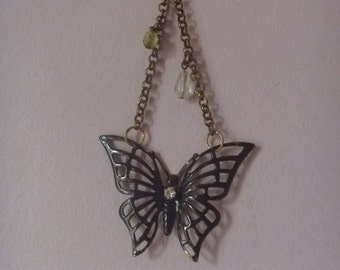 hanging butterfly ornament, black metal butterfly wall hanging