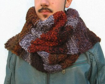 Knitted Chunky Scarf Oversized Scarf. Knit Scarf Chunky Hand Knit Scarves. Giant Unisex Scarf, Boho Scarves, Super Scarf Knit Blanket Scarf
