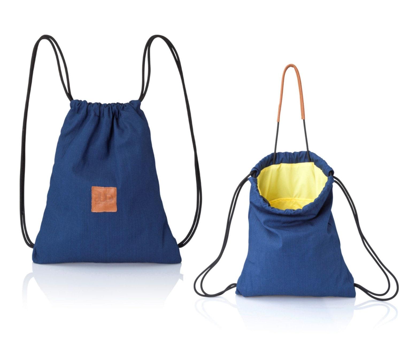 Denim blue backpack purse multiway back bag sack bag SALE