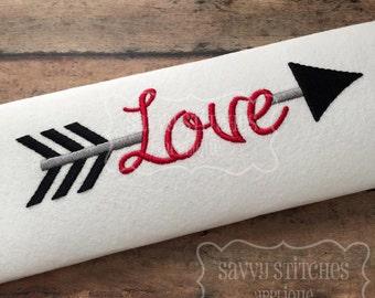 Love Arrow Machine Embroidery Design