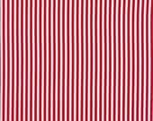 Stripe Fabric, Red and White, Horizontal Stripes, Timeless Treasures, Quilting, Clothing and Crafts, Fat Quarter, Half Yard, By The Yard