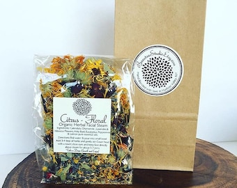 Organic Herbal Facial Steam  ~ Botanical Facial, Organic Herbs