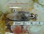 A LUCKY  No 6 Real Brown Rabbit FOOT KEYRING, pelt, hide,