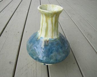 heavy  primitive clay vase
