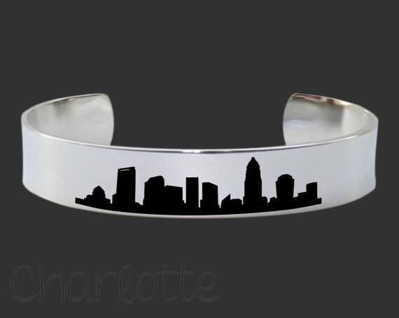 Charlotte Skyline | Cityscape Jewelry | Skyline Jewelry | Skyline Bracelet | Cityscape Bracelet | Friend Gift | Travel Gift | Map Jewelry