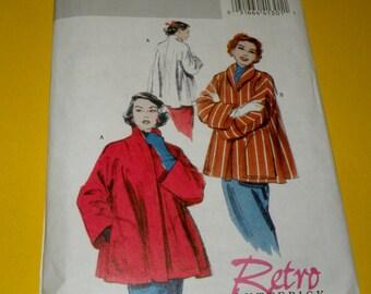 Butterick 4928 RETRO 1952 Jacket/Coat Pattern size Large, Xtra Large