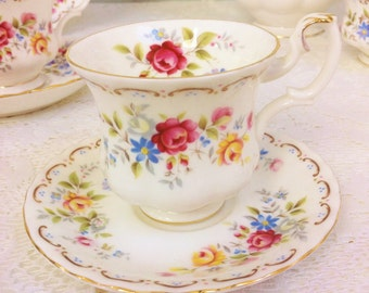 "Royal Albert ""Jubilee Rose"" Demi Tasse Duo"