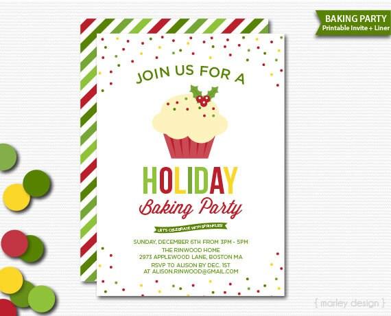 printable christmas invitations