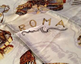 Vintage ROME Italy Souvenir Scarf